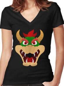 Bowser Women's Fitted V-Neck T-Shirt