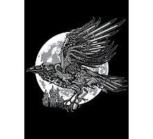 send a raven Photographic Print