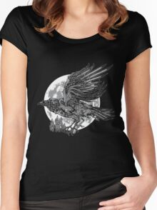send a raven Women's Fitted Scoop T-Shirt