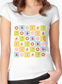 Sea design Women's Fitted Scoop T-Shirt