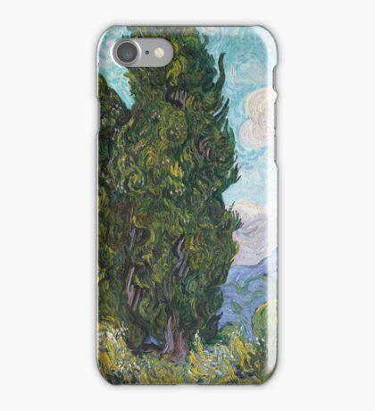 Vincent Van Gogh - Cypresses .  Van Gogh - Cypresses  iPhone Case/Skin