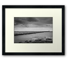 Tynemouth Pier and Lighthouse from the Spanish Battery Framed Print