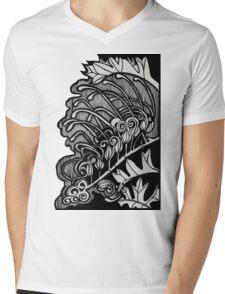 Flower - Fuchsia Grevillea (Grevillea Bipinnatifida) Mens V-Neck T-Shirt