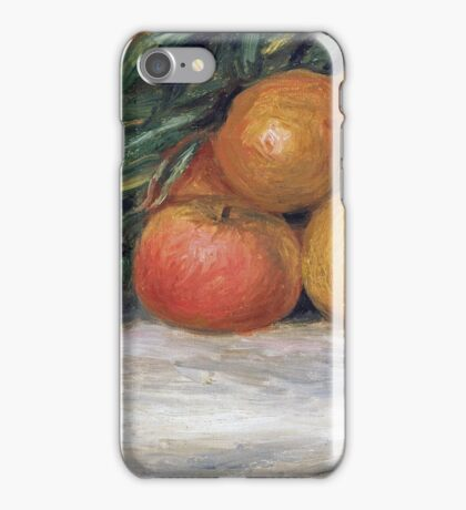 Renoir Auguste - Still Life With Apples And Oranges iPhone Case/Skin