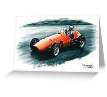 1952 Ferrari 500 F2 Greeting Card