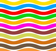 Wavy Stripes Love by Clickcreations