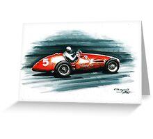 1953 Ferrari 500 F2 Greeting Card