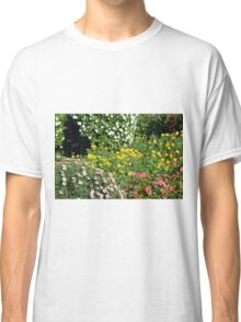 Many beautiful colorful flowers in the park. Classic T-Shirt