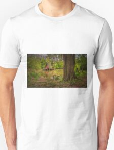 Cottage on the water in spring T-Shirt