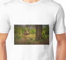 Cottage on the water in spring Unisex T-Shirt