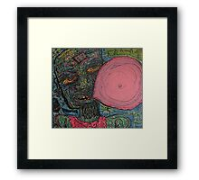 Zombies Love Bubble Gum Framed Print
