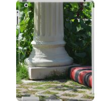 Park arrangement with classical column and comfortable seating pillows. iPad Case/Skin