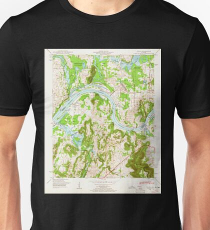 USGS TOPO Map Alabama AL Triana 305234 1948 24000 Unisex T-Shirt