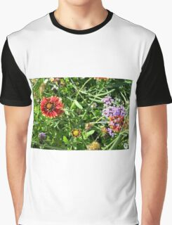 Many beautiful colorful flowers in the park. Graphic T-Shirt