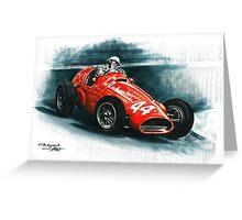 1955 Ferrari 625 F1 Greeting Card