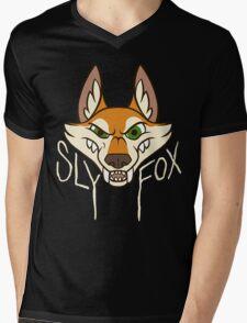 Sly Fox - Light Text Mens V-Neck T-Shirt