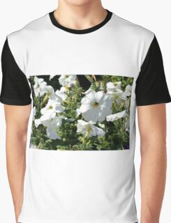 White flowers in the garden, natural background. Graphic T-Shirt