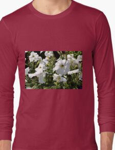 White flowers in the garden, natural background. Long Sleeve T-Shirt