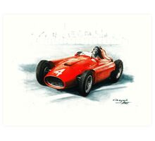 1956 Lancia Ferrari D50 Art Print