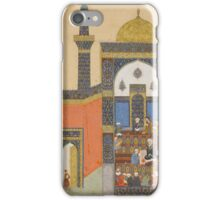 Laila and Majnun at School, Folio from a Khamsa (Quintet) of Nizami  iPhone Case/Skin