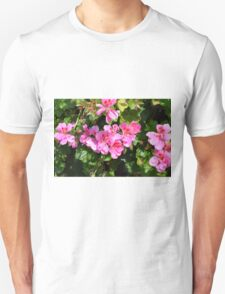 Pink flowers in the garden, natural background. T-Shirt