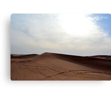 Sand dunes in the desert and cloudy sky. Canvas Print