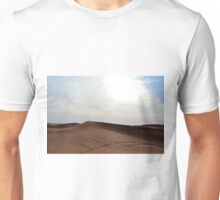 Sand dunes in the desert and cloudy sky. Unisex T-Shirt