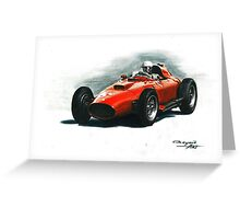 1957 Ferrari 801 F1 Greeting Card