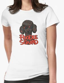 BLACK POODLE SQUAD Womens Fitted T-Shirt