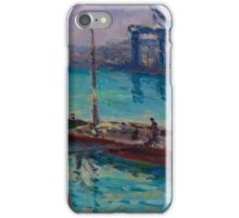 Maximilien Luce - Peniche Near The Bank Of The Seine  iPhone Case/Skin