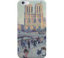 Maximilien Luce - The Quai Saint-Michel And Notre Dame iPhone Case/Skin