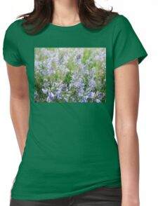 Blue flowes Womens Fitted T-Shirt
