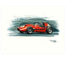 1958 Ferrari Dino 246 F1 Art Print