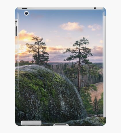 Lovely morning on top of the hill iPad Case/Skin