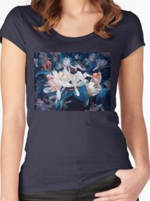 night flowers Women's Fitted Scoop T-Shirt