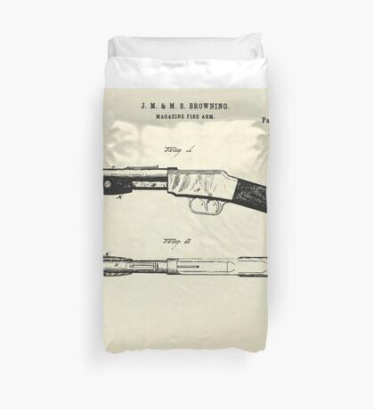Magazine Fire Arm-1887 Duvet Cover