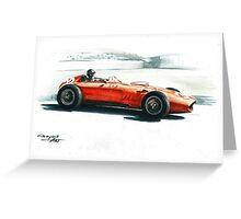 1960 Ferrari Dino 246 F1. GP Monaco Greeting Card
