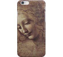 Leonardo Da Vinci - Head Of A Young Woman With Tousled Hair Or Leda iPhone Case/Skin