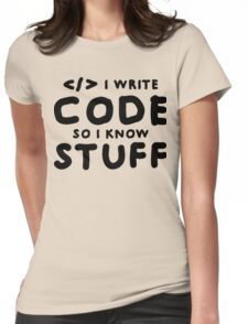 Programmers know stuff Womens Fitted T-Shirt