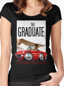 Alfa Romeo Duetto caricature from the Graduate Women's Fitted Scoop T-Shirt
