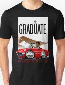 Alfa Romeo Duetto caricature from the Graduate Unisex T-Shirt