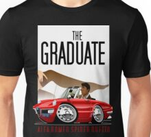 Alfa Romeo Duetto caricature from the Graduate Unisex T-Shirt