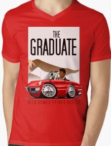 Alfa Romeo Duetto caricature from the Graduate Mens V-Neck T-Shirt