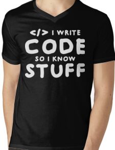 Programmers know stuff Mens V-Neck T-Shirt