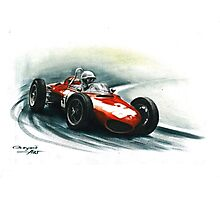 1961  Ferrari 156 F1 sharknose Photographic Print