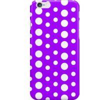 Polka Dots (Purple/White) iPhone Case/Skin