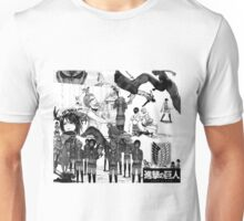attack on titans collage  Unisex T-Shirt