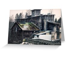 Old abandoned mill Greeting Card