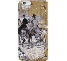 Henri De Toulouse-Lautrec - Riders On The Way To The Bois Du Bolougne iPhone Case/Skin