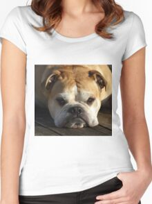bulldog your best friend Women's Fitted Scoop T-Shirt